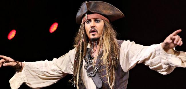 Johnny Depp Jack Sparrow Disneyland