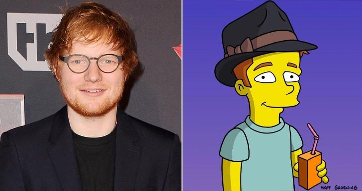 Ed Sheeran. Simpsons