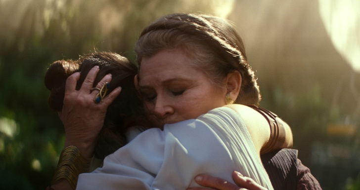 "Carrie Fisher em ""Star Wars: A Ascensão de Skywalker"""