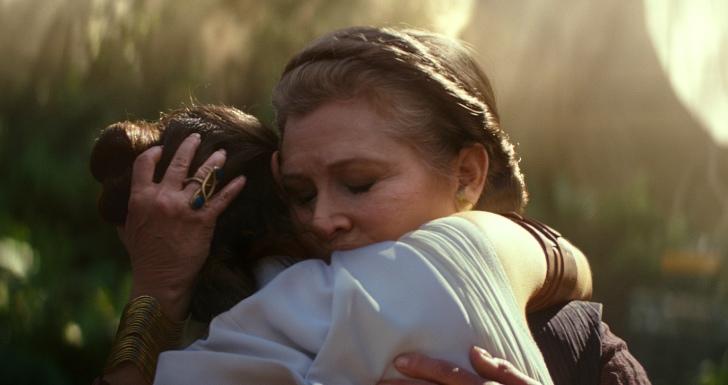 """Carrie Fisher em """"Star Wars: A Ascensão de Skywalker"""""""